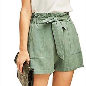 Entro Short Stop Belted Linen Short